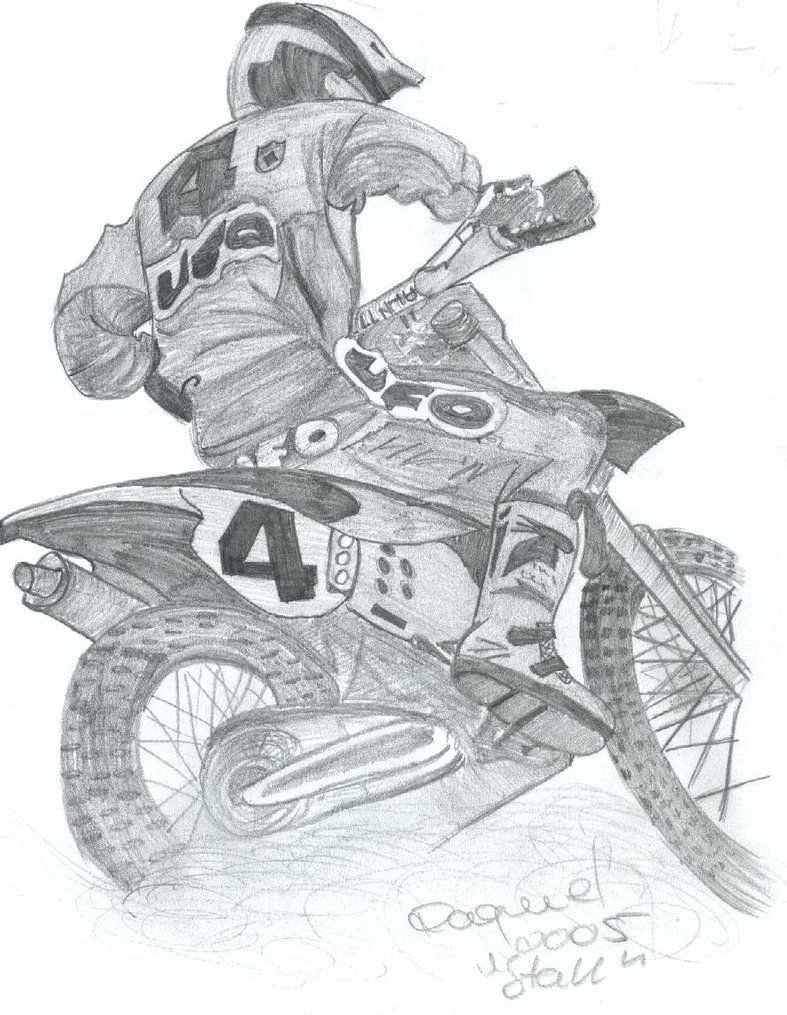 Motocross By Nstall On Deviantart Disegni Moto Da Ragazza Motocross
