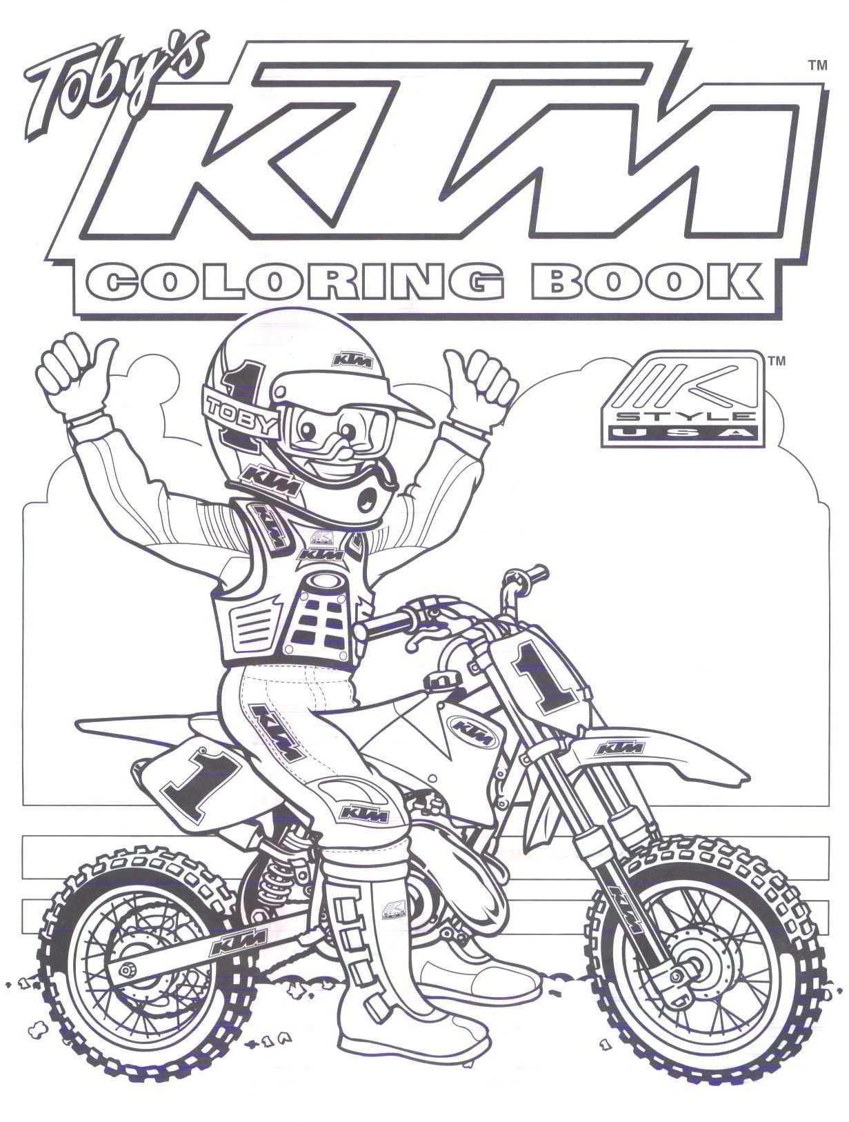 Ktm Dirt Bike Coloring Pages Dirt Bike Birthday Bike Birthday Parties Ktm Dirt Bikes