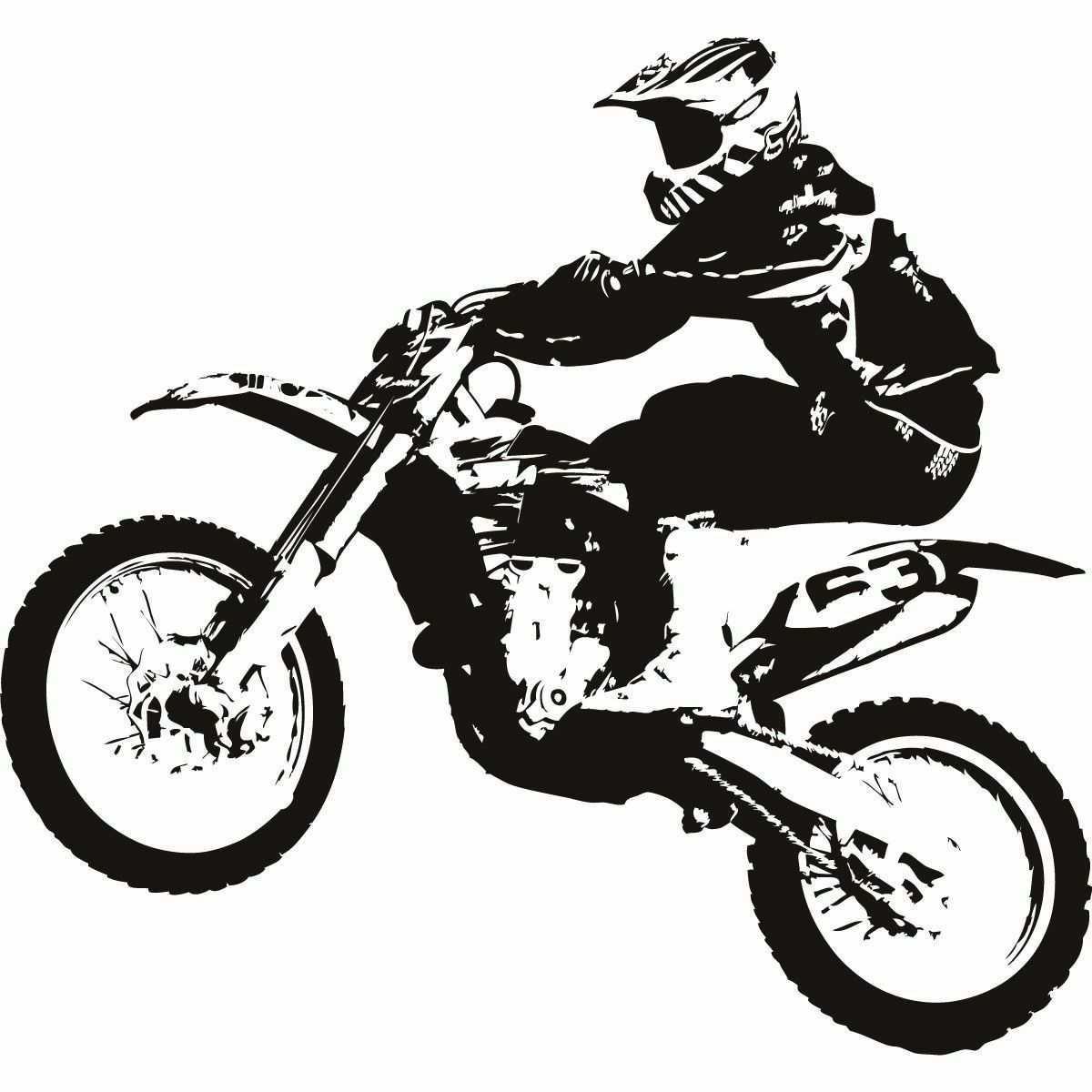 Motocross Photoss Motocross Motorrader Motorrad Aufkleber Jugendlich Kunst