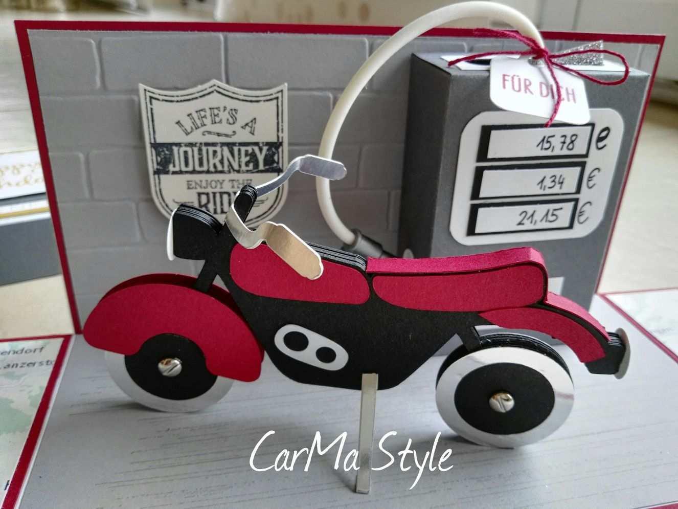 Explosionsbox Carma Style Explosionsbox Motorrad Geschenke Geschenke Verpacken Geldgeschenke