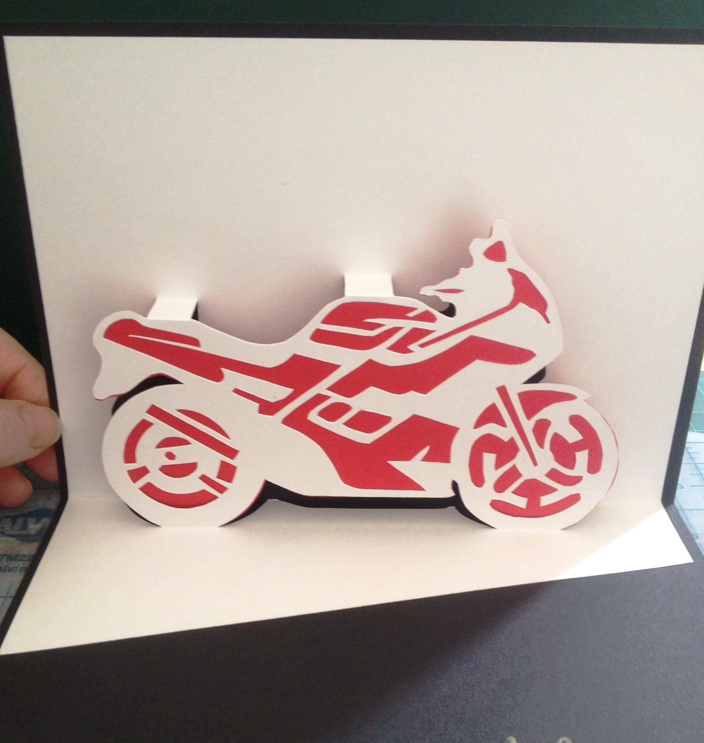 Motorcycle Pop Up Card Geldgeschenke Geschenke Pop Up Karte Basteln