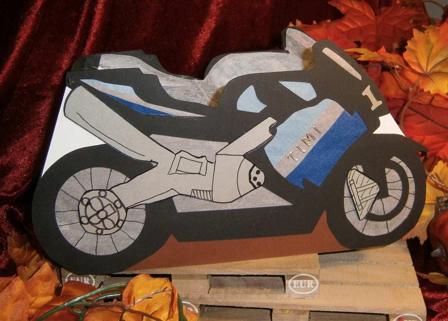 Laterne Motorrad Papier Kind Bastelabend Laterne