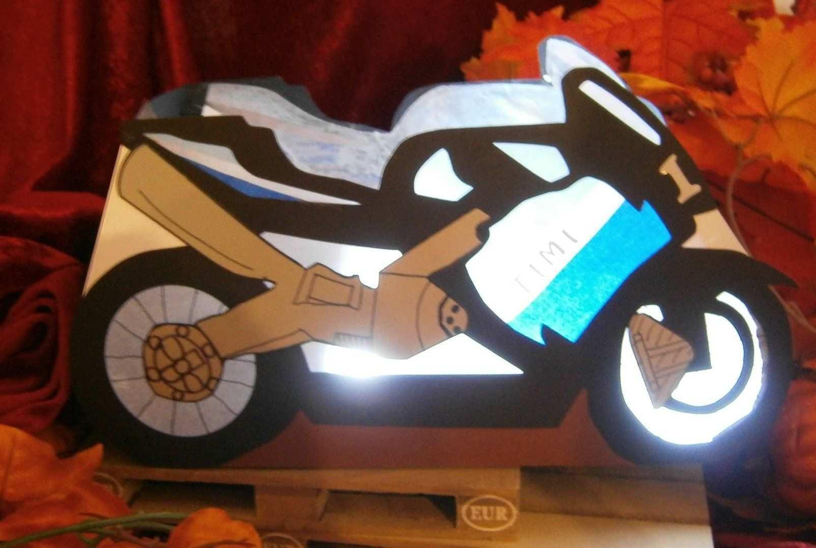 Laterne Motorrad Laternen Basteln Basteln Laterne