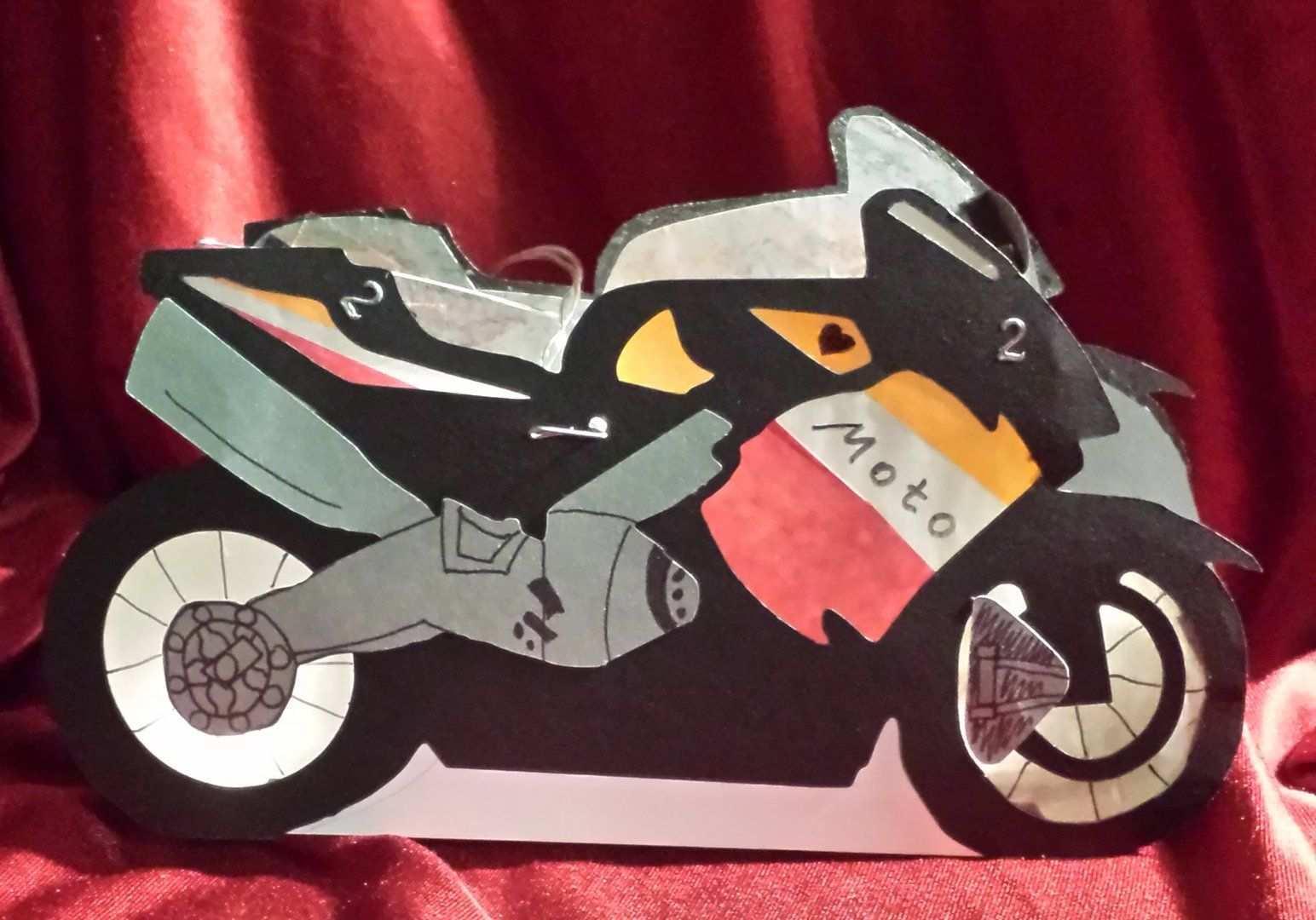 Laterne Motorrad Bastelkonigin Motorrad Laterne Fotokarton