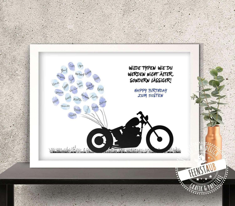 Geburtstag Gastebuch Leinwand Motorrad Biker Feenstaub At Shop Geschenke Gutschein Geburtstag Geldgeschenke Geburtstag Basteln