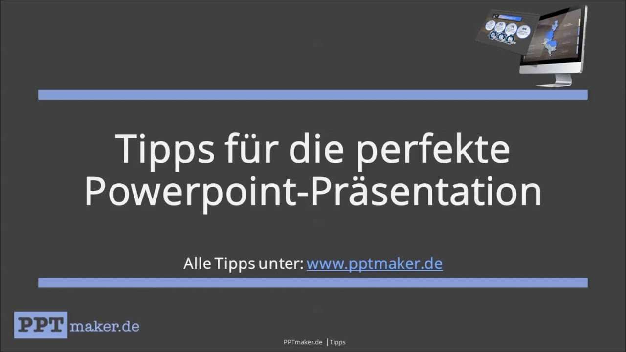 Tipps Fur Die Perfekte Powerpoint Prasentation Youtube
