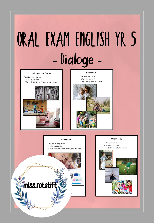 Oral Exam Year 5 Mundliche Prufung Dialoge Fuhren Sprechprufung Englisch Bilder Beschreiben Unterrichtsmaterial Im Fach Englisch Mundliche Prufung Englischunterricht Englisch