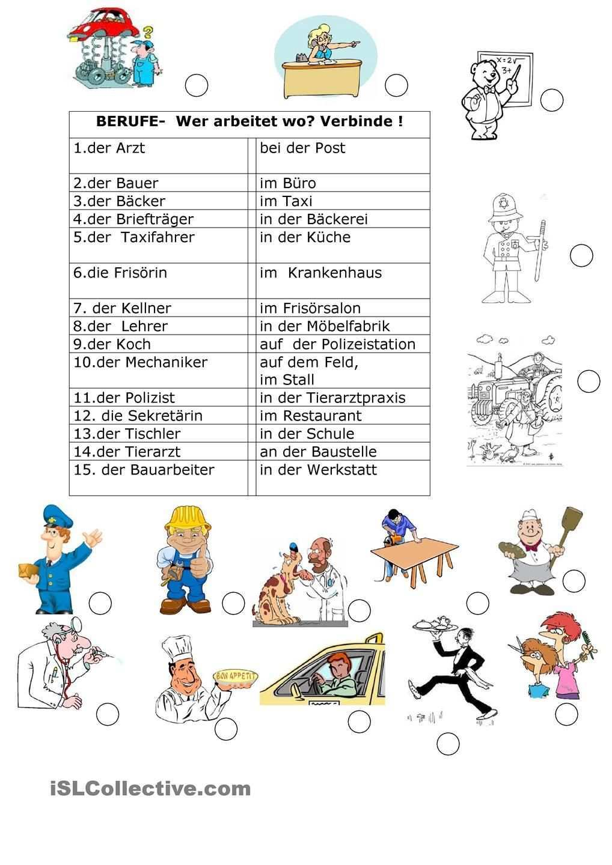 Berufe 2 Lesen Lernen Berufe Deutsch Lernen