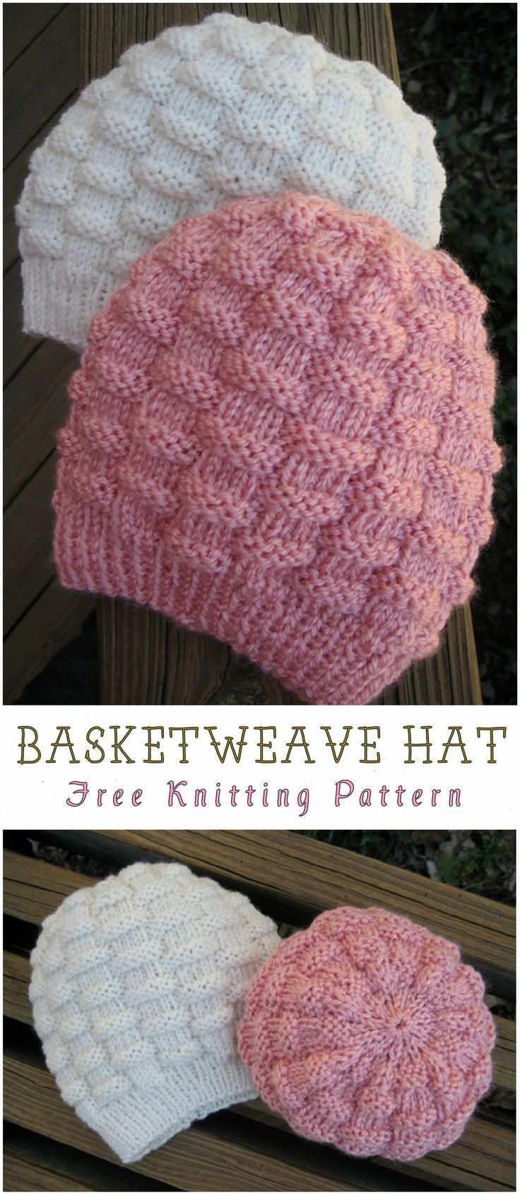 Basketweave Hat Free Knitting Pattern Basketweave Free Hat Knitting Pat Knitting Patterns Free Hats Crochet Beanie Hat Free Pattern Basket Weave Crochet