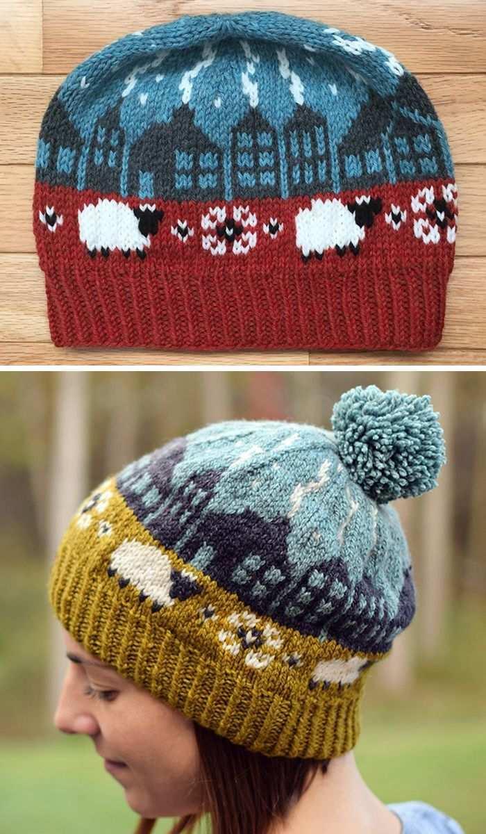 Home Sweet Home Strickmuster Free Knitting Pattern Fur Lerwick Roofline Hat Beanie Inspi In 2020 Fair Isle Strickmuster Kostenlose Strickmuster Hakelmuster Mutze