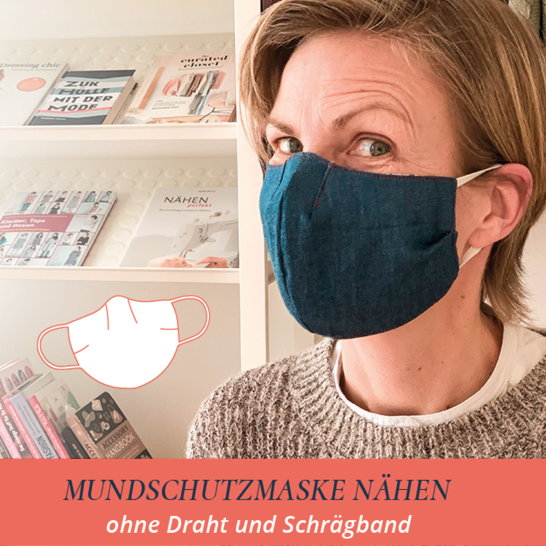 Mundschutz Nahen Ohne Draht Und Schragband Elle Puls Masken Nahen Schnittmuster Kostenlose Schnittmuster