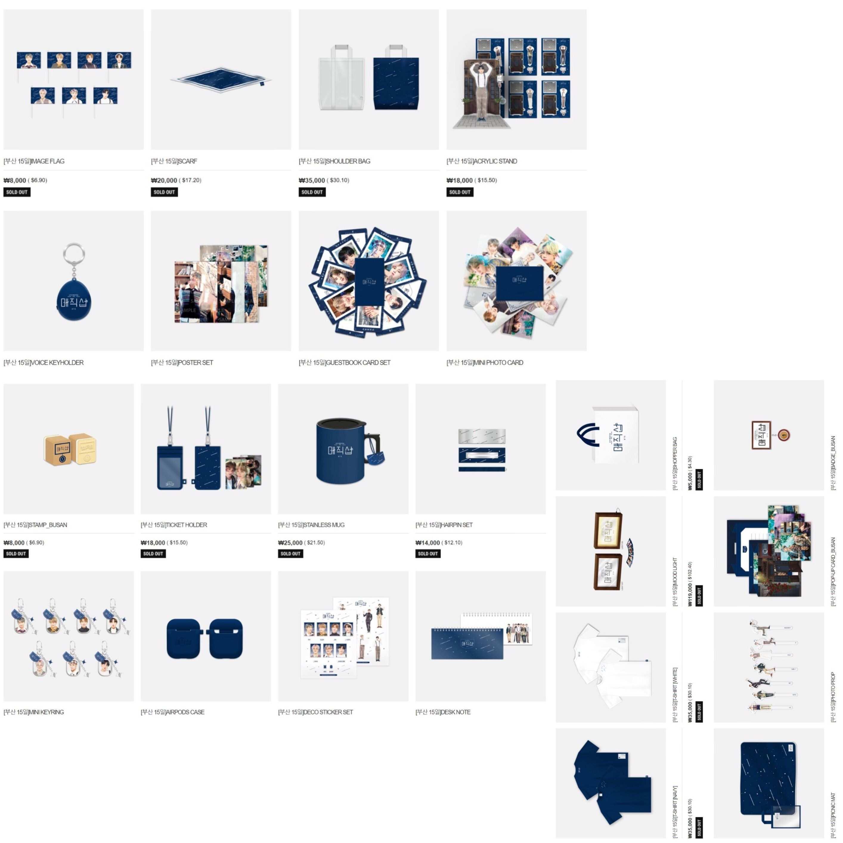Bts 5th Muster Magic Shop Official Merch List