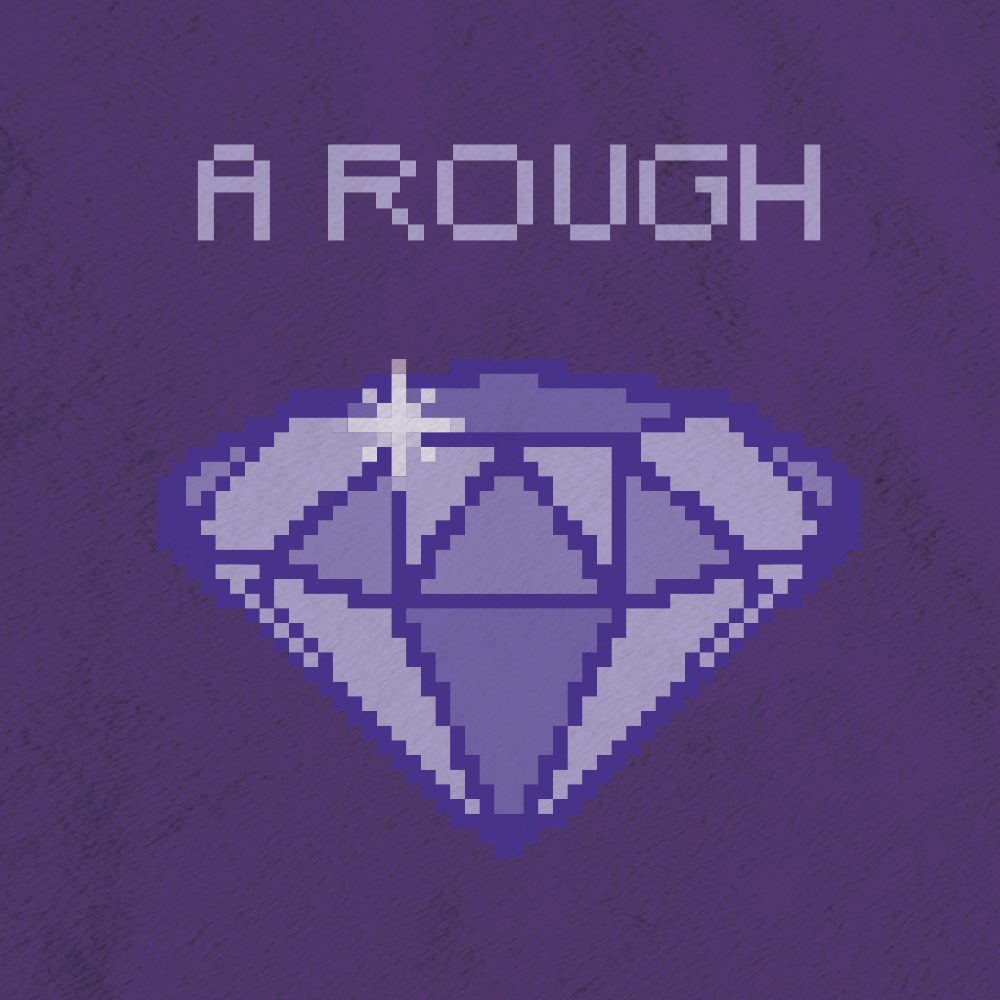 The Phrase A Rough Diamond Is Well Illustrated In Trendy Pixel Art Style