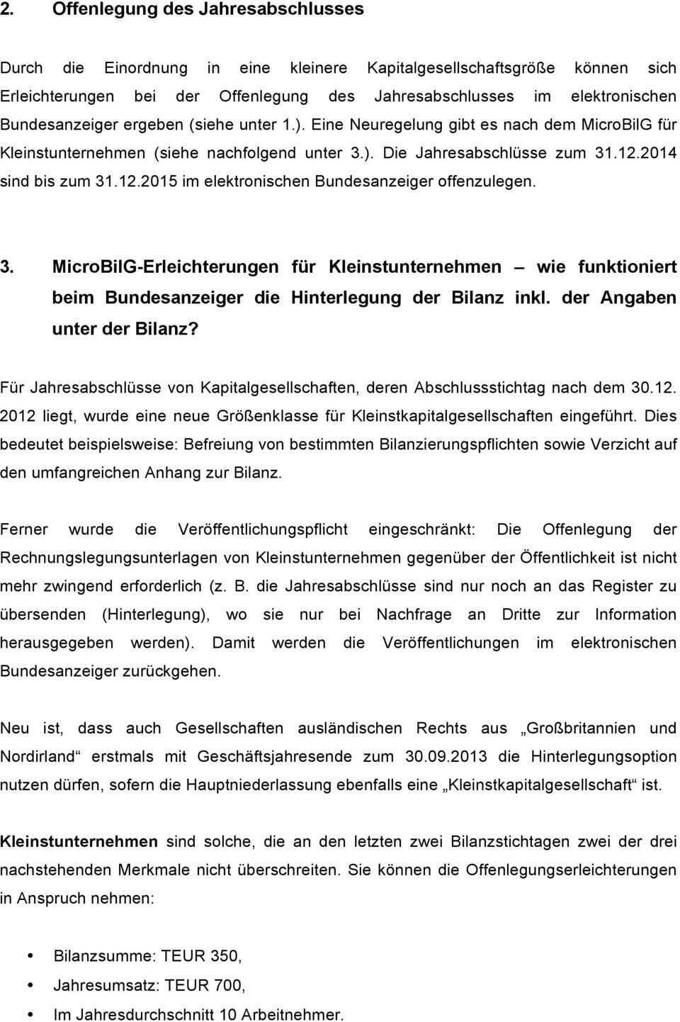 1 Bilanzrichtlinie Umsetzungsgesetz Anderungen Bei Den Grossenklassen Pdf Kostenfreier Download