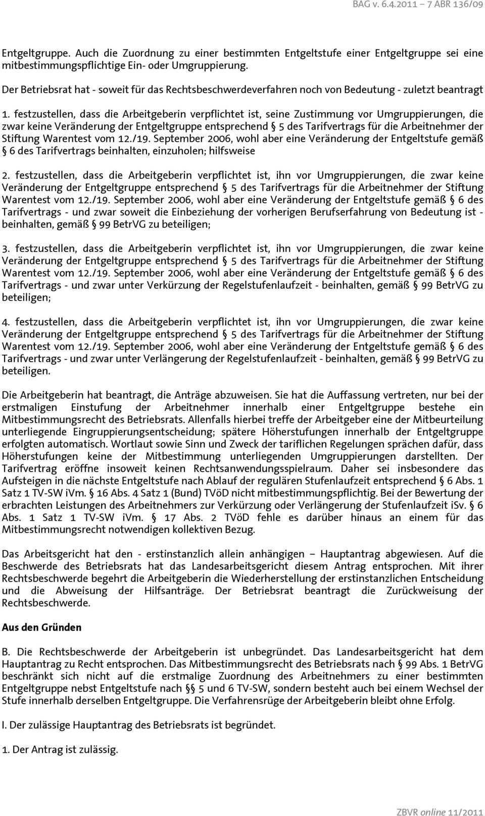 Mitbestimmung Des Betriebsrats Bei Umgruppierungen Anderung Der Einstufung In Der Entgeltgruppe Pdf Kostenfreier Download