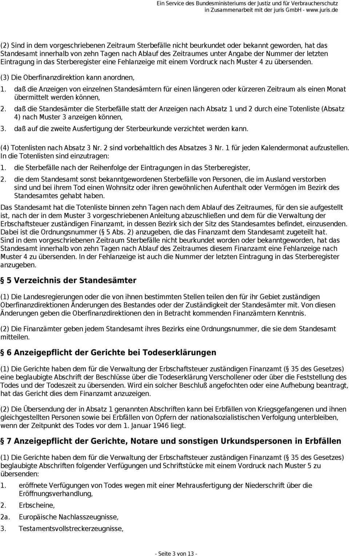 Erbschaftsteuer Durchfuhrungsverordnung Erbstdv Pdf Free Download