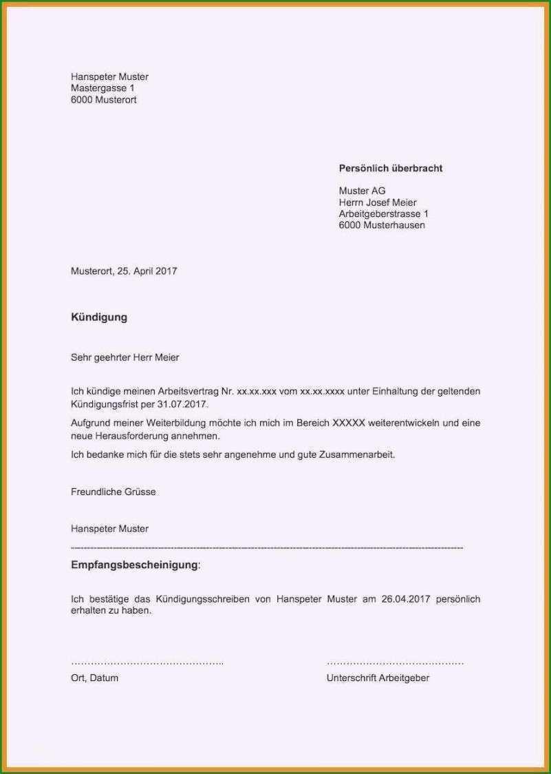 Befriedigend Kundigung Minijob Vorlage Vorlagen Word Kundigung Schreiben Vorlagen
