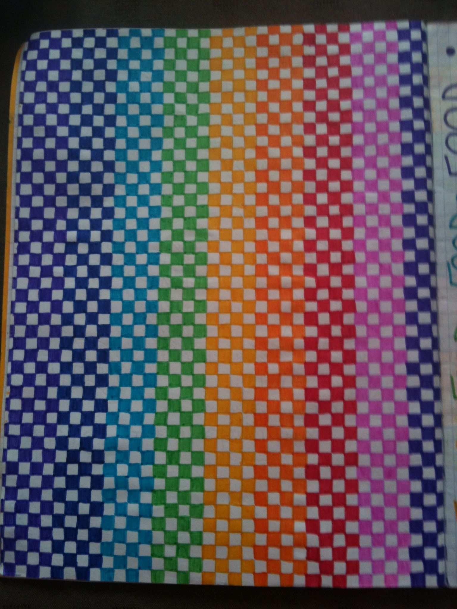Rainbow Squares Graph Paper Drawings Graph Paper Art Graph Paper Designs