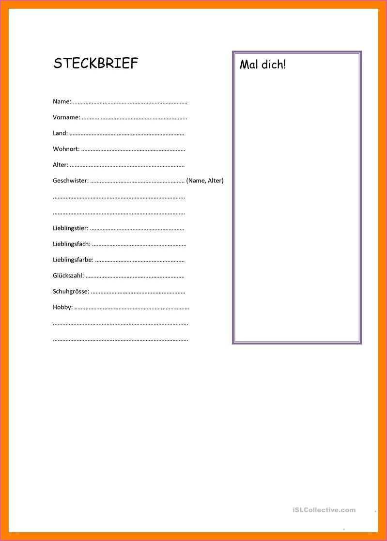 Vorstellung Neuer Mitarbeiter Vorlage Steckbrief Steckbrief Muster Geschaftsbrief Vorlage