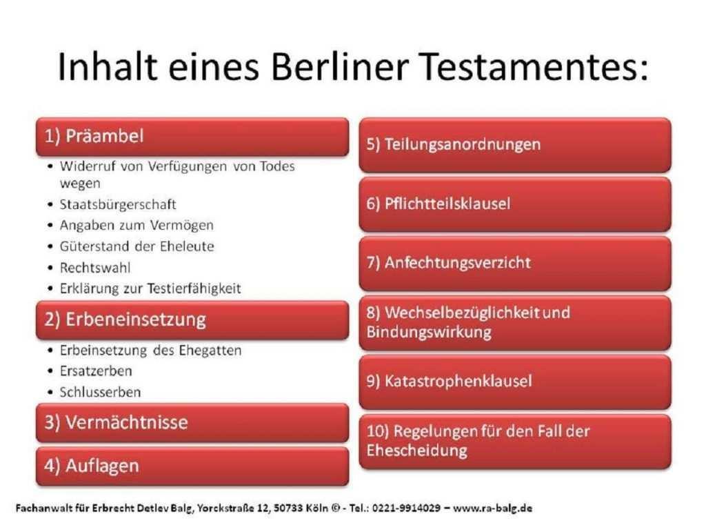 Berliner Testament Muster Mit Erlauterung Rechtsanwalt Erbrecht Koln