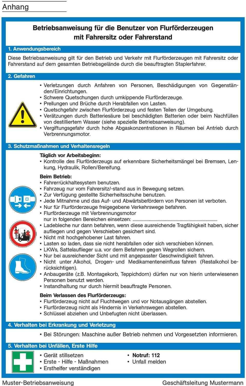 Merkblatt M 4 Ausgabe Umgang Mit Flurforderzeugen Foto Jungheinrich Pdf Free Download