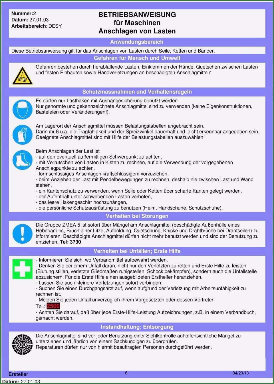 12 Grossartig Betriebsanweisung Vorlage Betriebsanweisung Vorlagen Verhaltensregeln