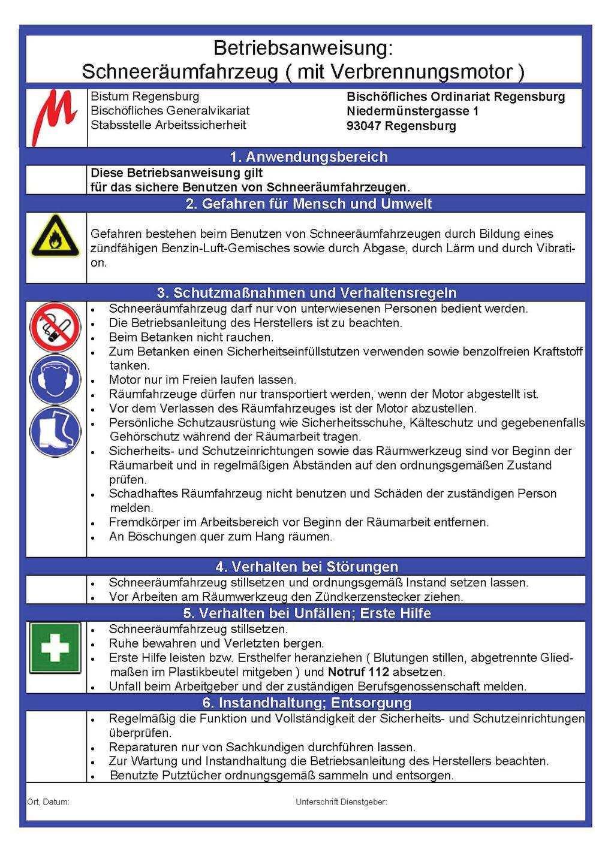 Unterweisung Der Schlussel Zu Mehr Sicherheit Bei Der Arbeit Unterweisungshandbuch Des Bischoflichen Ordinariates Regensburg Pdf Free Download