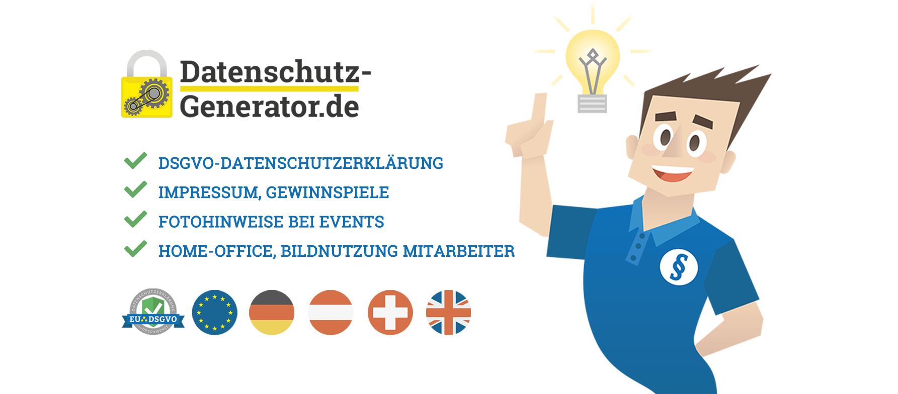 Datenschutzerklarung Generator Datenschutzerklarung In Deutsch Und Englisch Datenschutz Generator De Vom Rechtsanwalt Und Experten Empfohlen