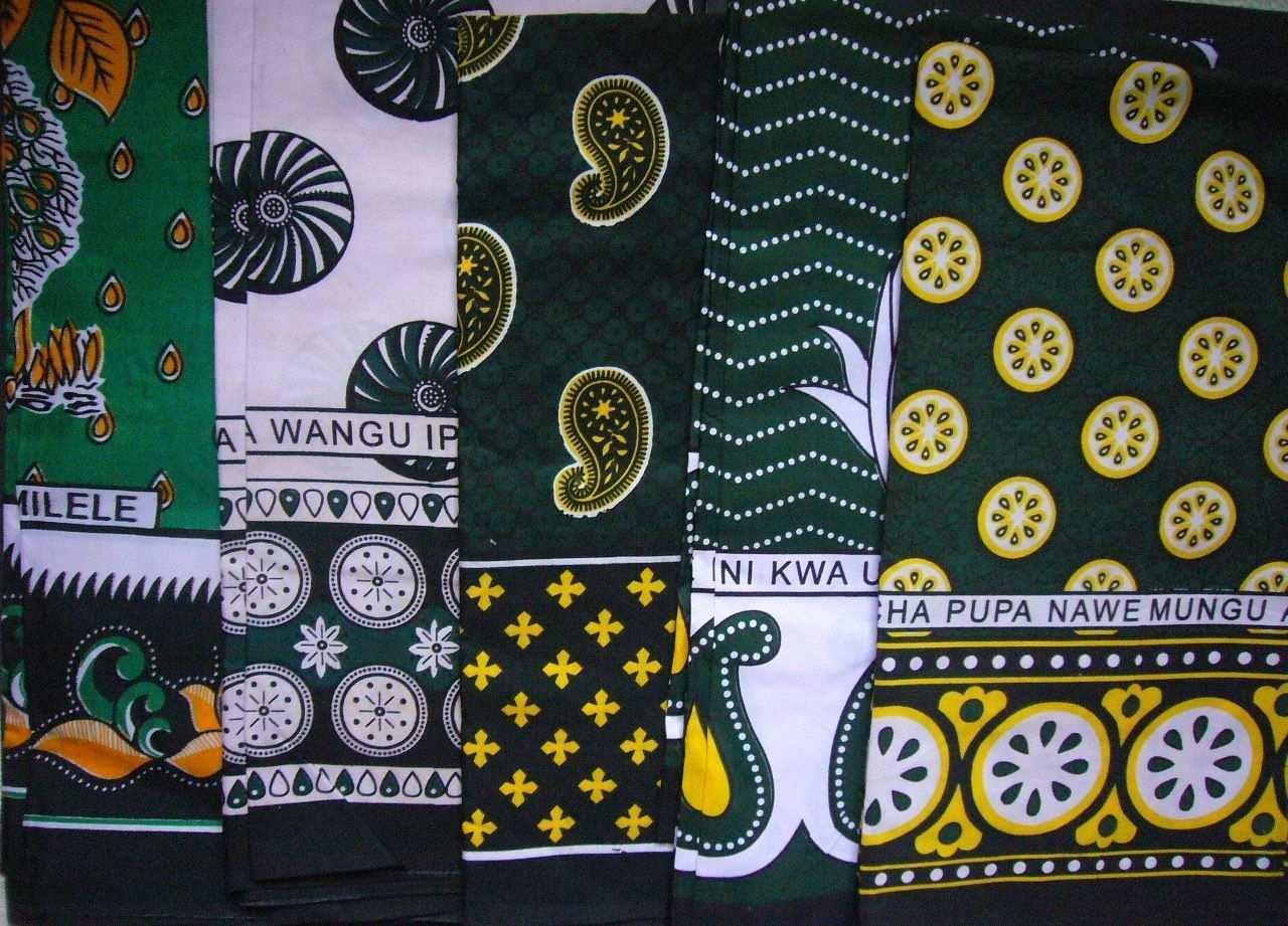 African Kanga Khanga Sarong Pareo Throw Wrap Green Black Beach Swimwear Home Easy Schnittchen