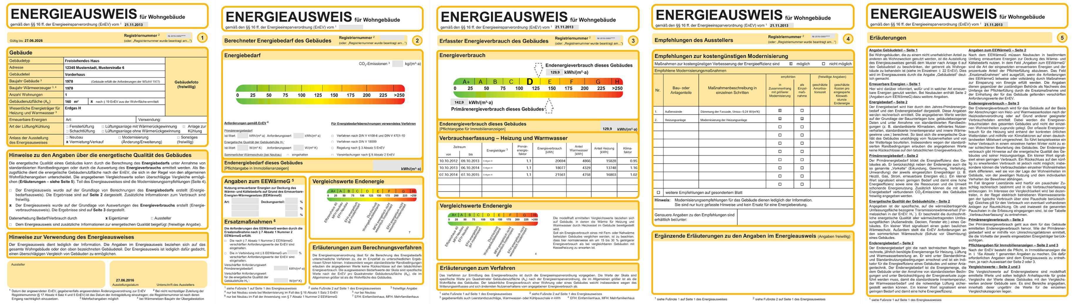 Energiepass Alle Notwendigen Unterlagen