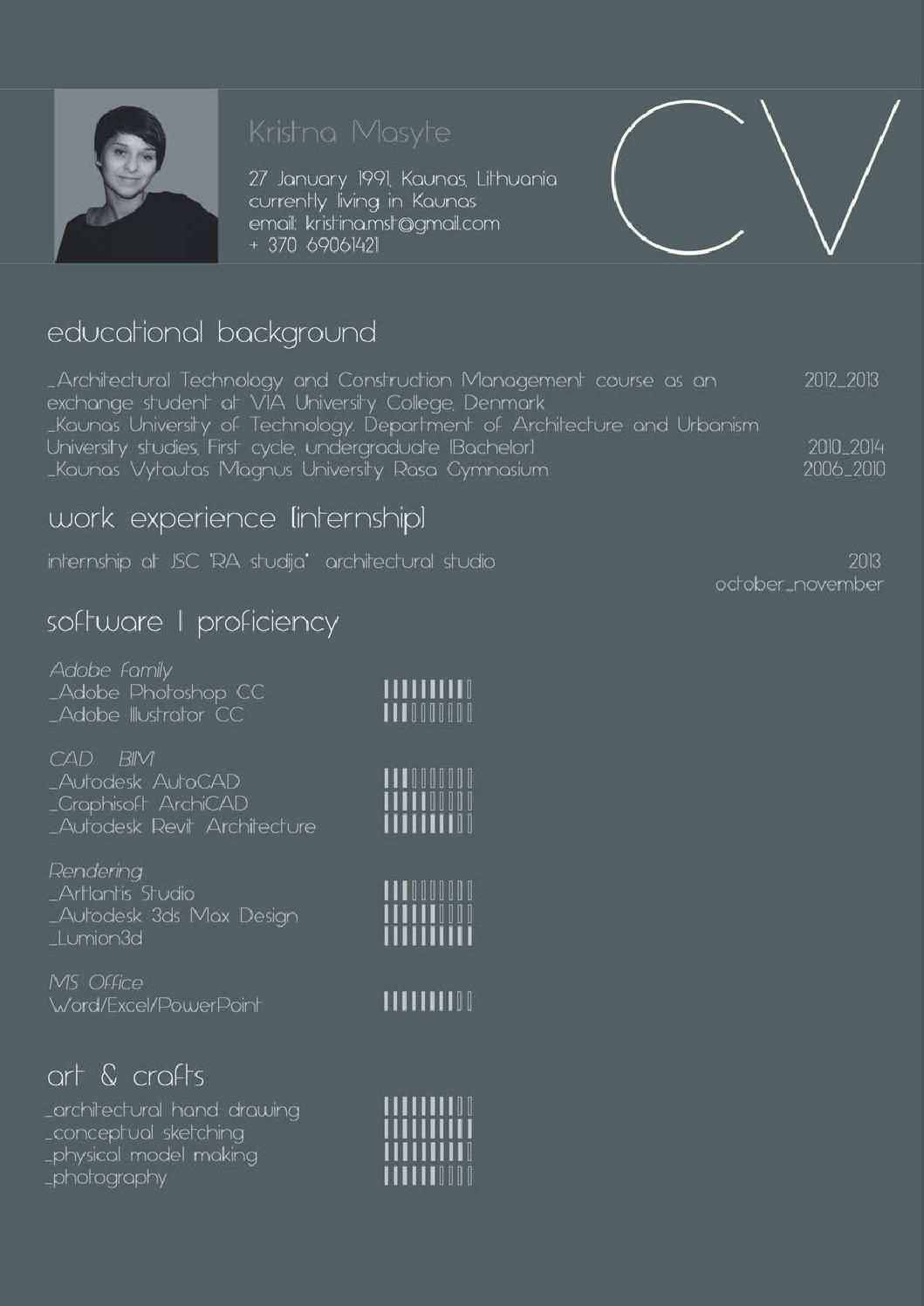 2014 Undergraduate Architectural Portfolio By Kristina Masytė Architecture Portfolio Portfolio Design Architecture Resume