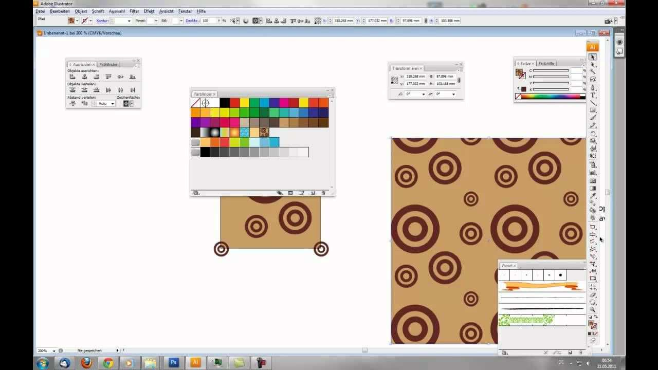 Tutorial Nahtloses Muster Seamless Pattern In Illustrator Erstellen Illustrator Adobe Illustrator Graphik