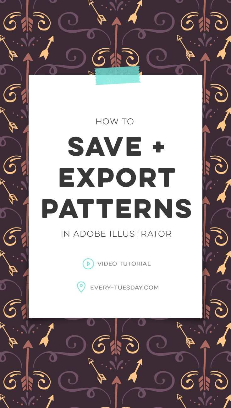 How To Save And Export Patterns In Illustrator Every Tuesday Illustrator Pattern Tutorial Graphic Design Photoshop Photoshop Tutorial Graphics