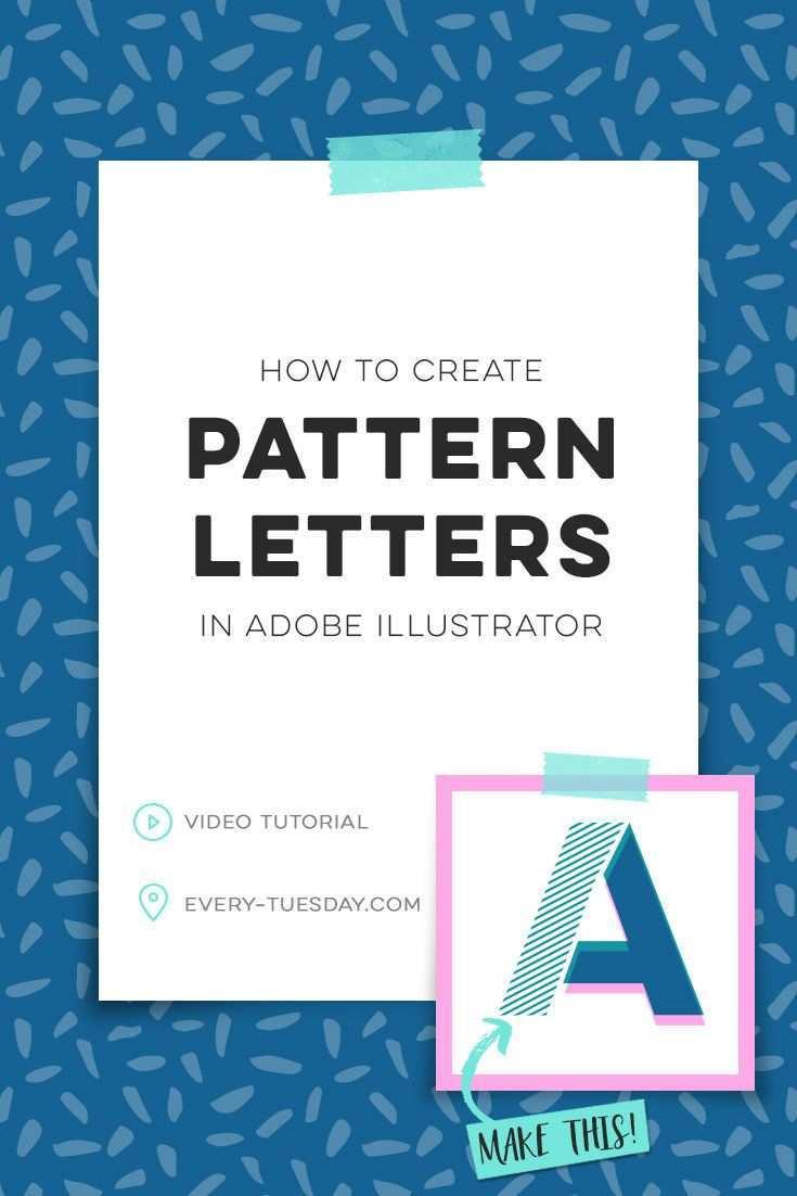 How To Create Pattern Letters In Adobe Illustrator Grafikdesign Tutorials Lettering Buchstabenmuster