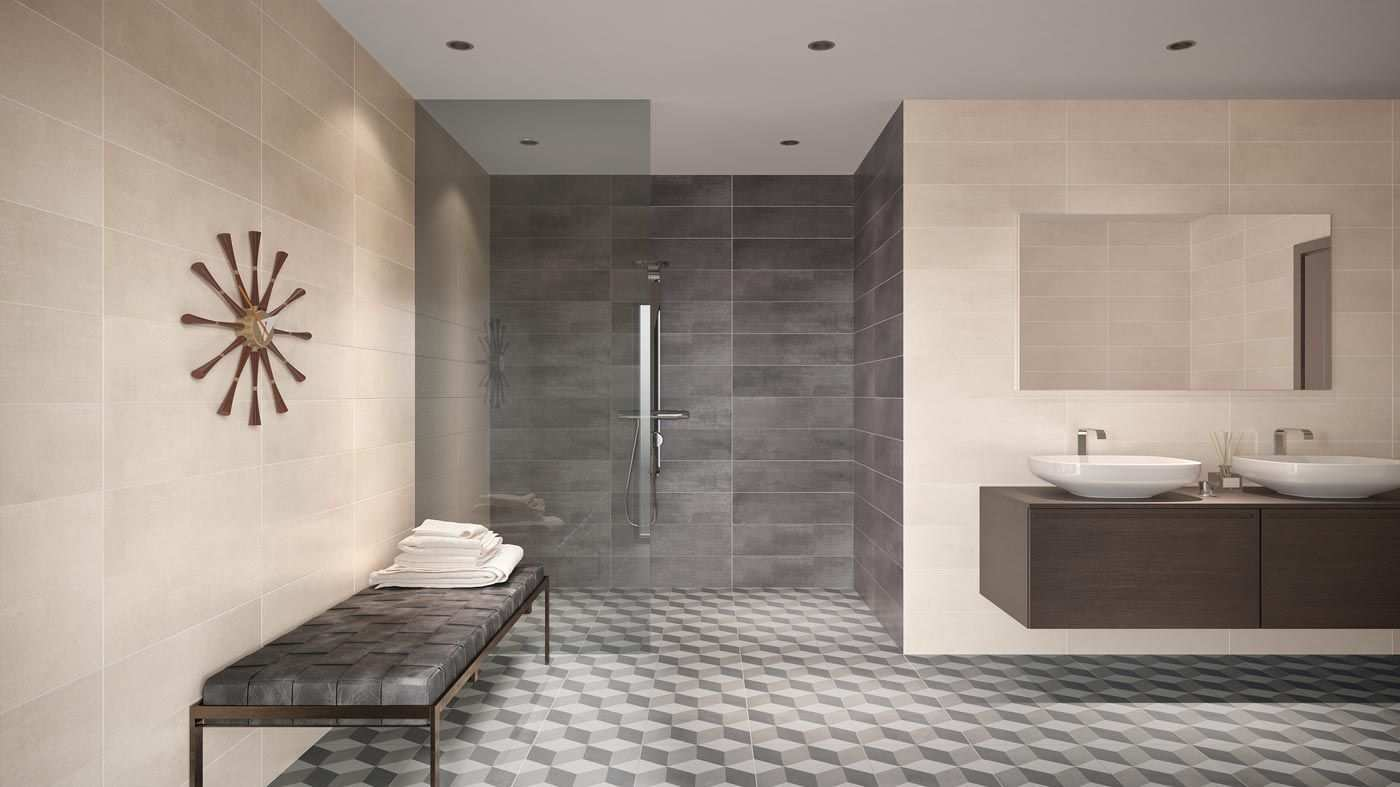 Fliesen Badezimmer Fliesen Betonoptik Bad Fliesen Designs Bad Styling