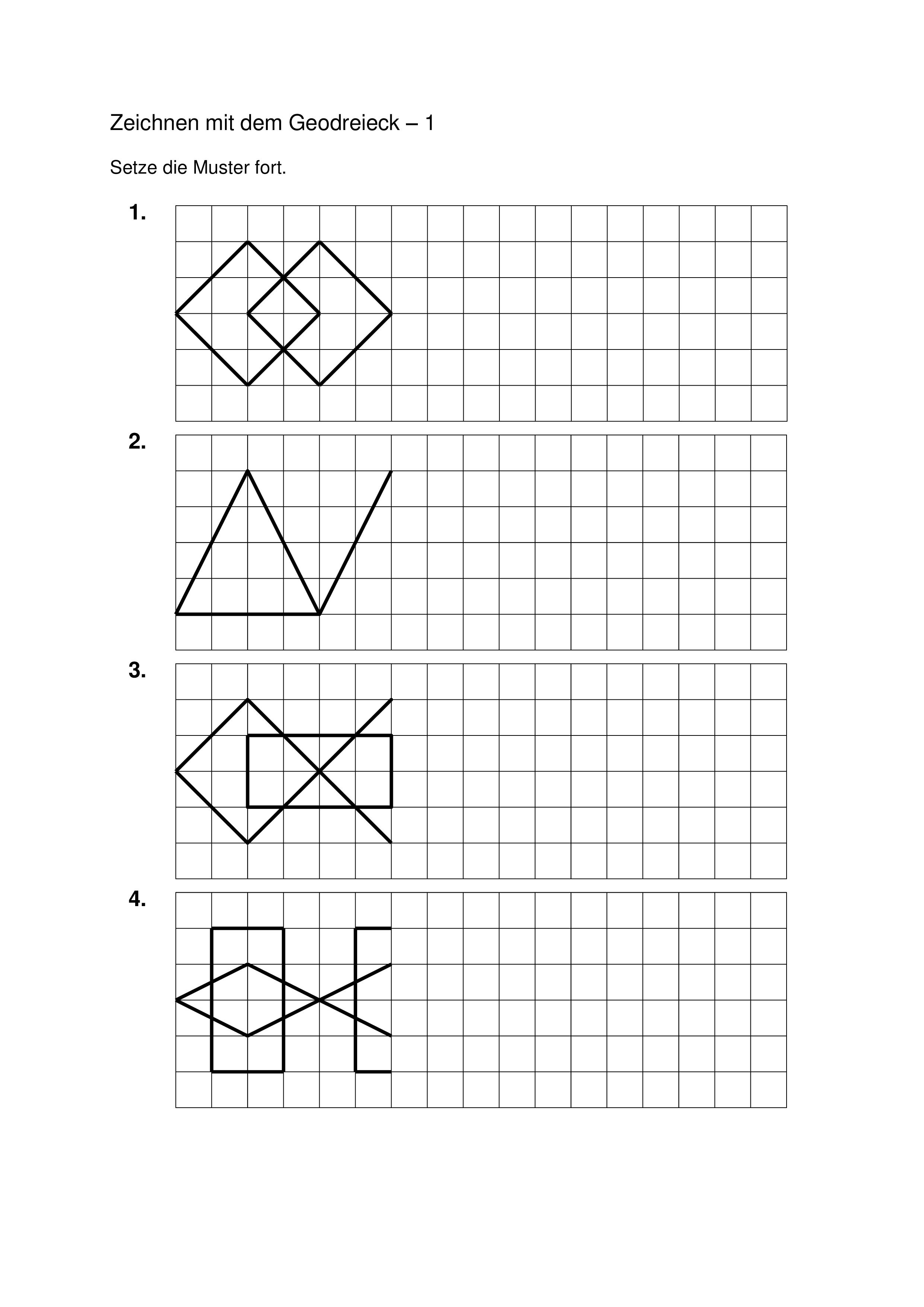 Geometrie Klasse 3 4 5 Fortsetzen Und Ubertragen Von Mustern Geometrie Mathematikunterricht Bruchrechnen