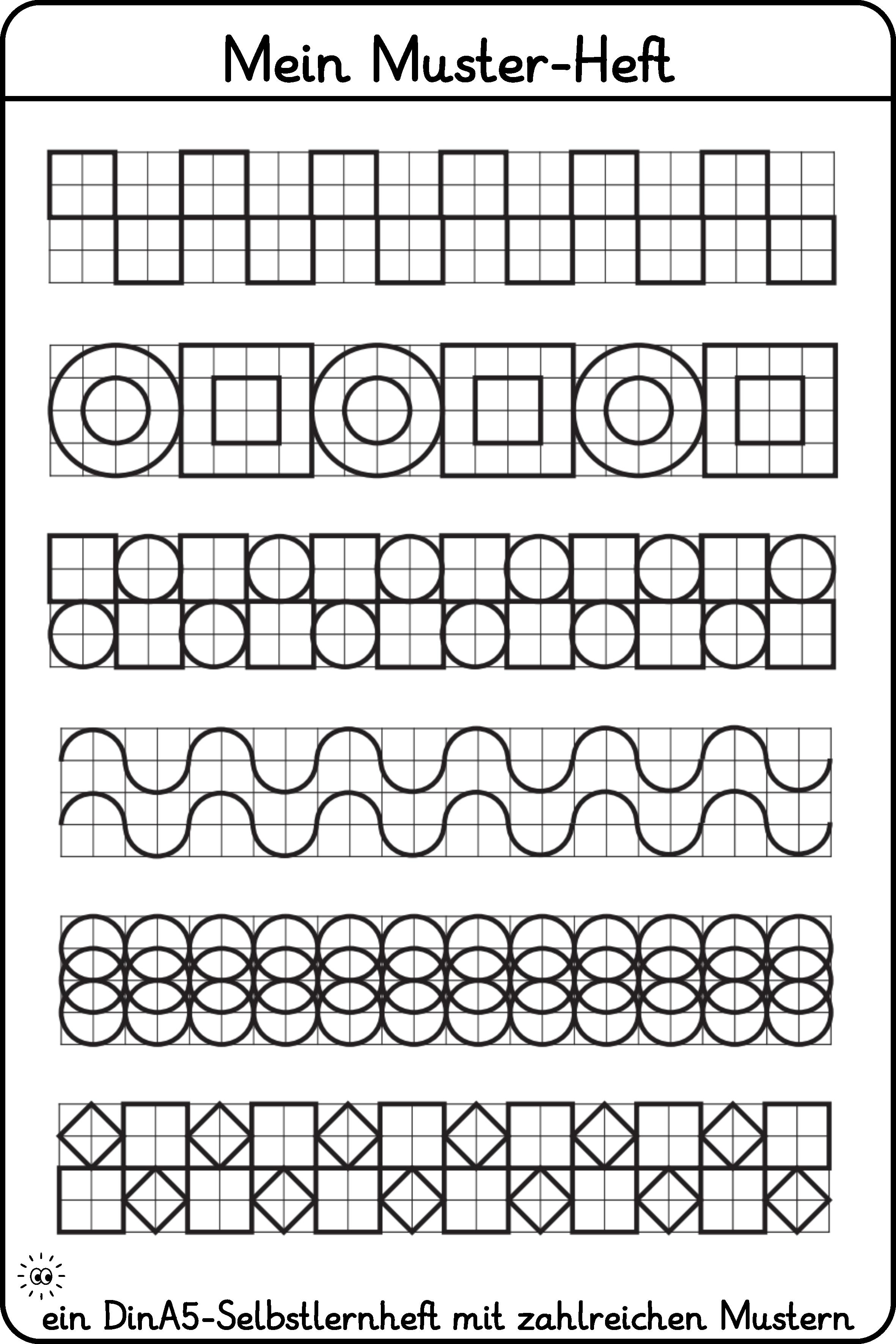 Mein Muster Heft Muster Zeichnen Muster Fortsetzen Muster Zahlenstrahl Lernen