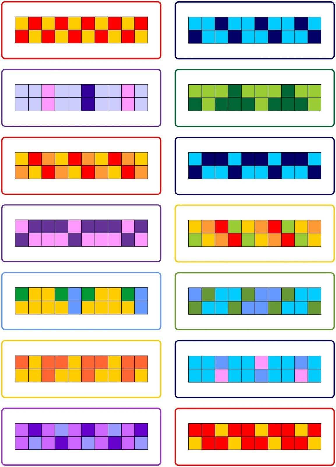 Muster Malen Und Fortsetzen Muster Malen Muster Erste Klasse