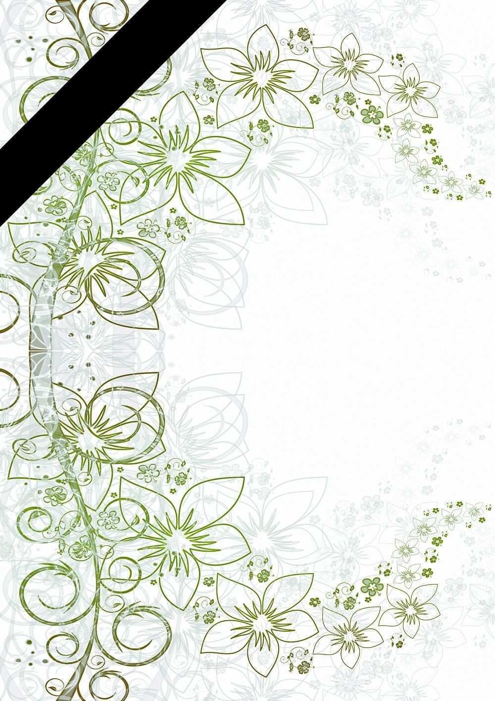 Trauer Briefpapier Vorlagen Briefpapier Vorlage Briefpapier Briefpapier Zum Ausdrucken