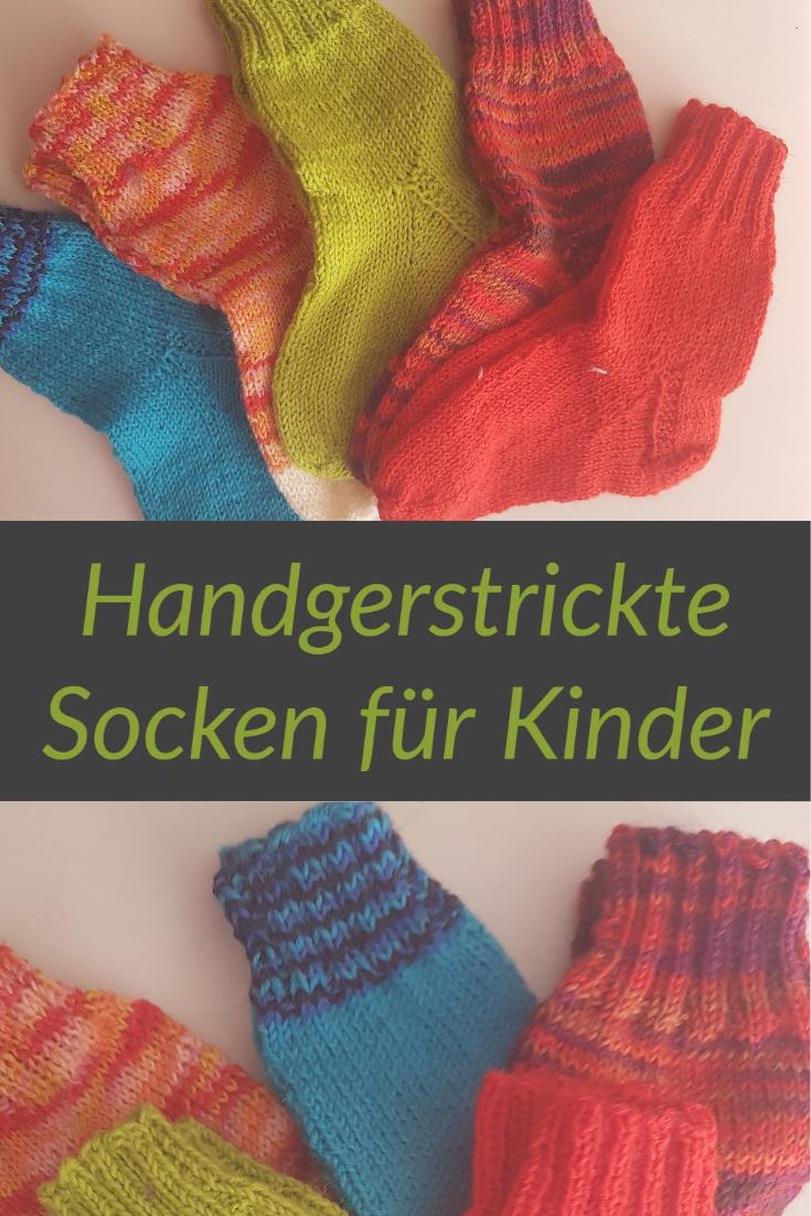 Strickanleitung Fur Kindersocken Aus Wollresten In Grosse 22 23 Und 24 25 Socken Stricken Kindersocken Stricken Socken Stricken Anfanger