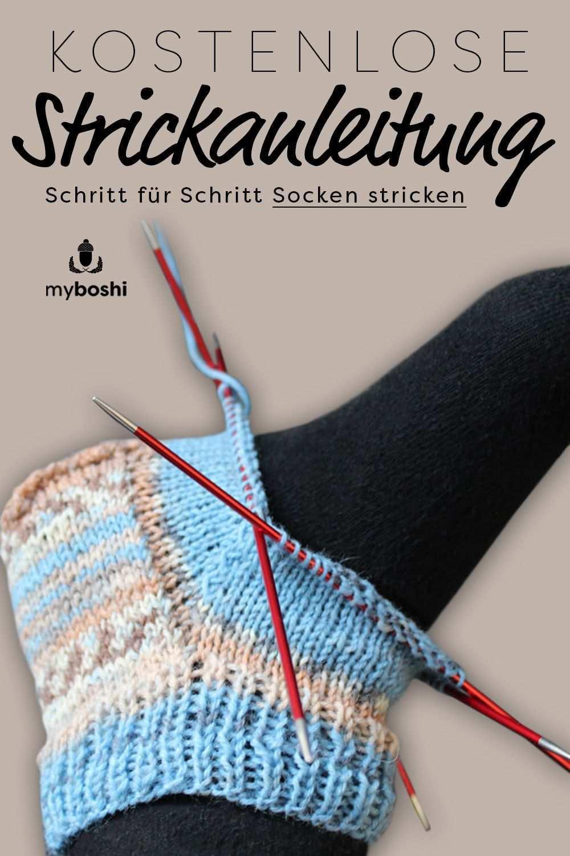Socken Stricken Fur Anfanger Eine Anleitung Inkl Grossentabelle Socken Stricken Socken Stricken Anfanger Kindersocken Stricken
