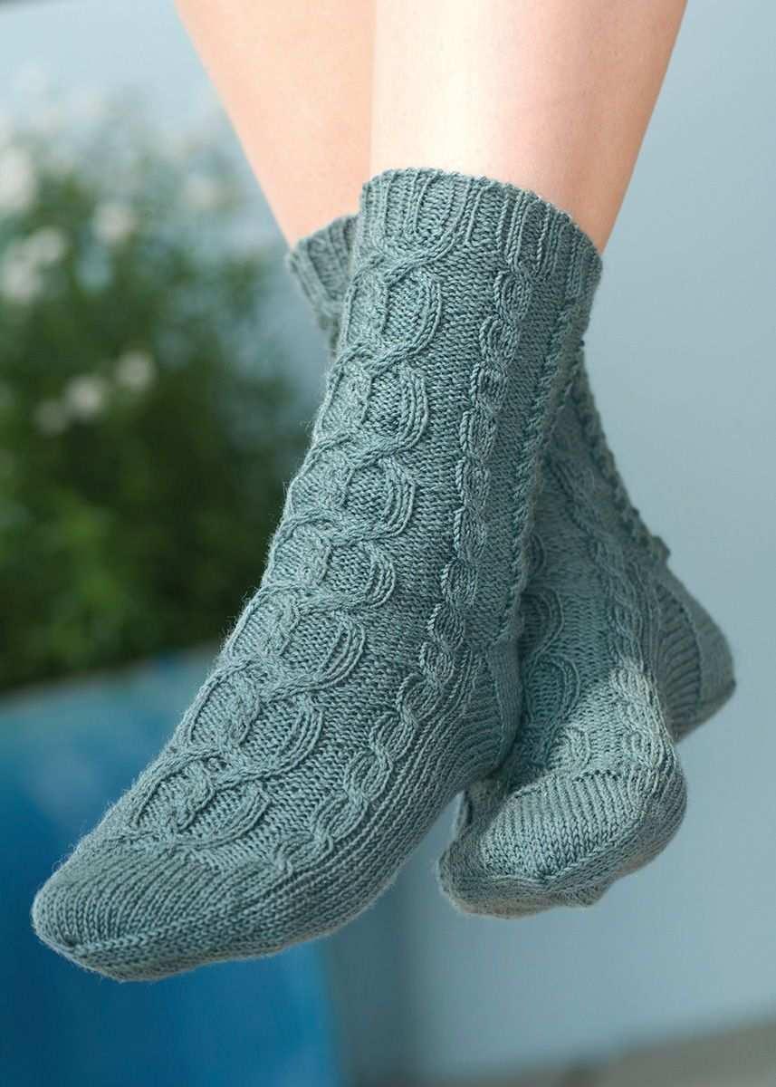 Zopfmuster Socken R0011 Schachenmayr Socken Stricken Muster Zopf Socken Zopfmuster Socken Stricken Muster