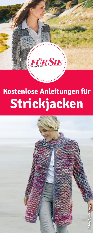 Die Schonsten Strickjacken Kostenlose Strickanleitungen Strickjacke Stricken Pullover Stricken Anleitung Jacke Stricken