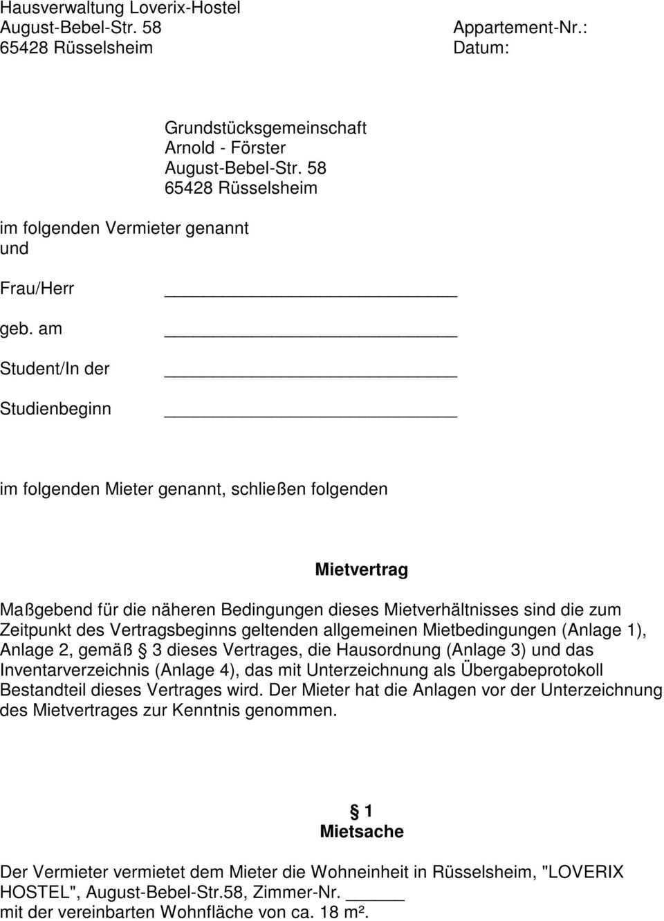 Grundstucksgemeinschaft Arnold Forster Pdf Kostenfreier Download