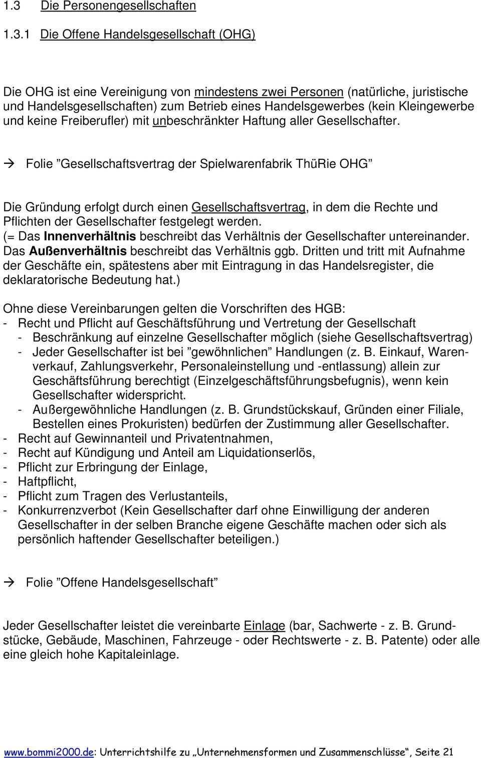 Folie Gesellschaftsvertrag Der Spielwarenfabrik Thurie Ohg Pdf Kostenfreier Download