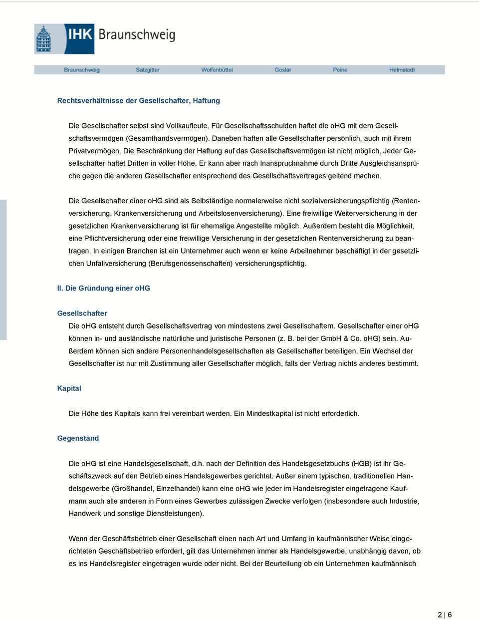 Offene Handelsgesellschaft Ohg Pdf Kostenfreier Download
