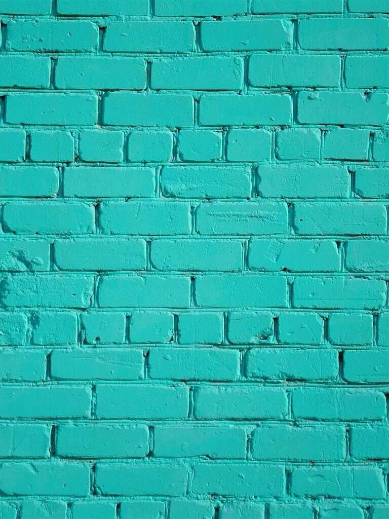 Hermoso Color Aqua Wallpaper Ziegel Hintergrund Turkisfarbenen Wande