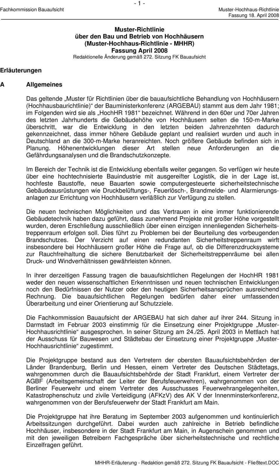 Muster Richtlinie Uber Den Bau Und Betrieb Von Hochhausern Muster Hochhaus Richtlinie Pdf Free Download
