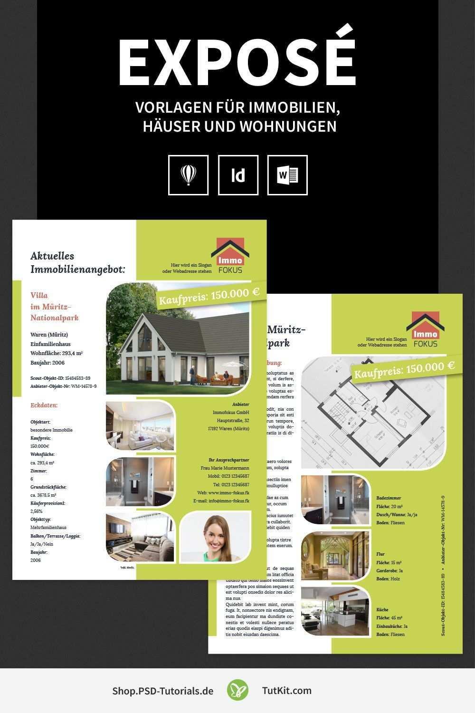 Hochwertige Immobilien Expose Vorlagen Flugblatt Design Immobilien Vorlagen
