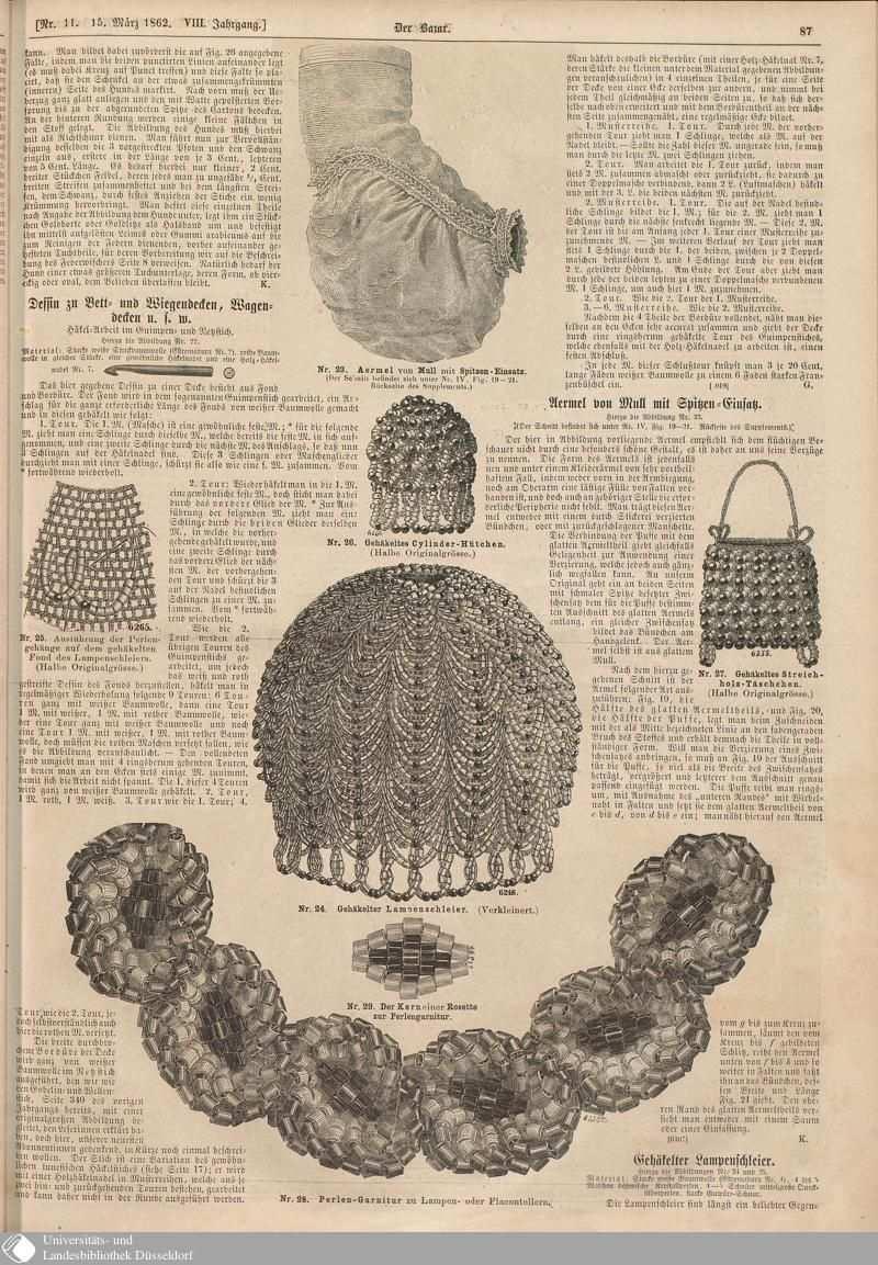 91 87 Nr 11 Der Bazar Seite Digitale Sammlungen Digitale Sammlungen Historical Costume Miniature Books Vintage Sewing